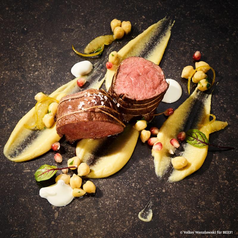 Rezept Wing Steak mit Hummus und Joghurt