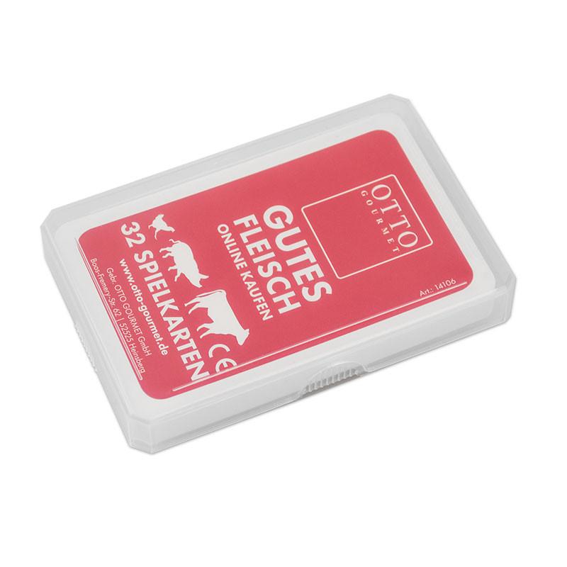 Kartenspiel in Klarsichtetui