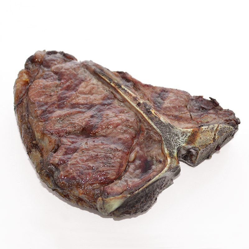 "Deutsches Angus Beef T-Bone Steak ""Dry-Aged"" gegart"