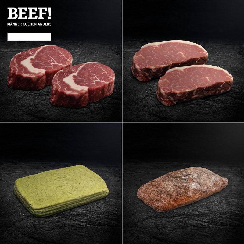 BEEF! Steak Paket mit  Sylter Gaues Brot und Kräuterbutter von den Butter Boyz