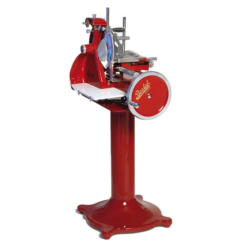 Berkel Aufschnittmaschine mit Standfuß Retro Style, rot