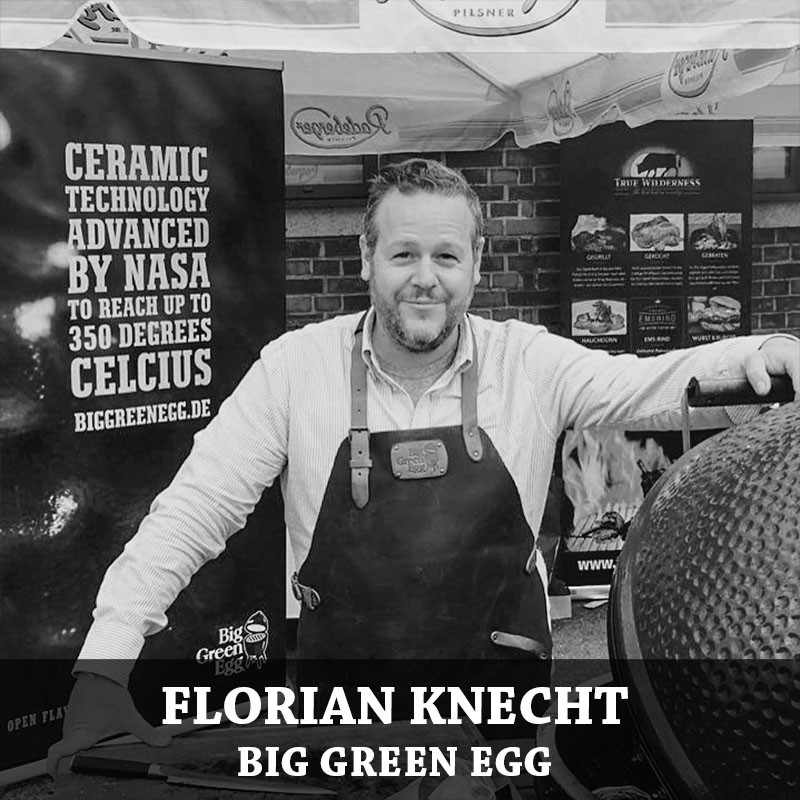 Florian Knecht mit dem Big Green Egg