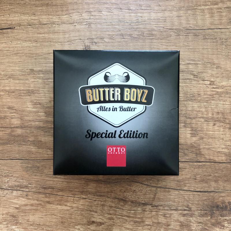 Verpackung des 4er Bio Butter Sets von den Butter Boyz