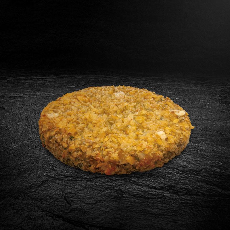 Bulgur Spinat Mozzarella Burger Patty einzeln