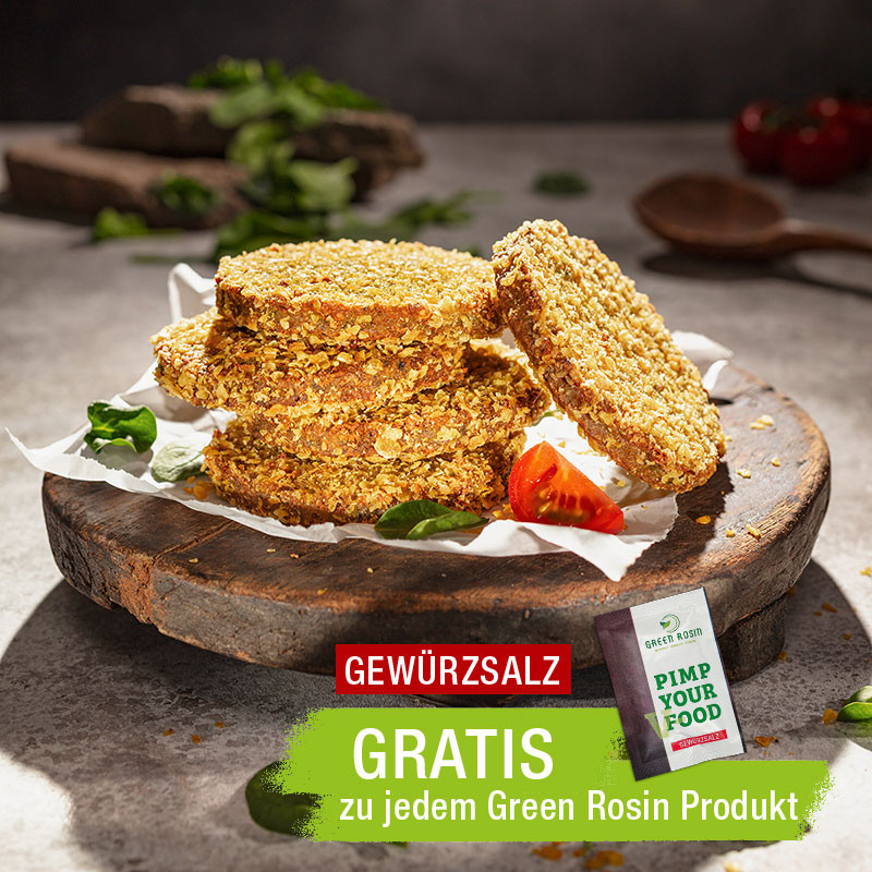 Vegane Bulgur Spinat Walnuss Burger von Frank Rosin zum Braten