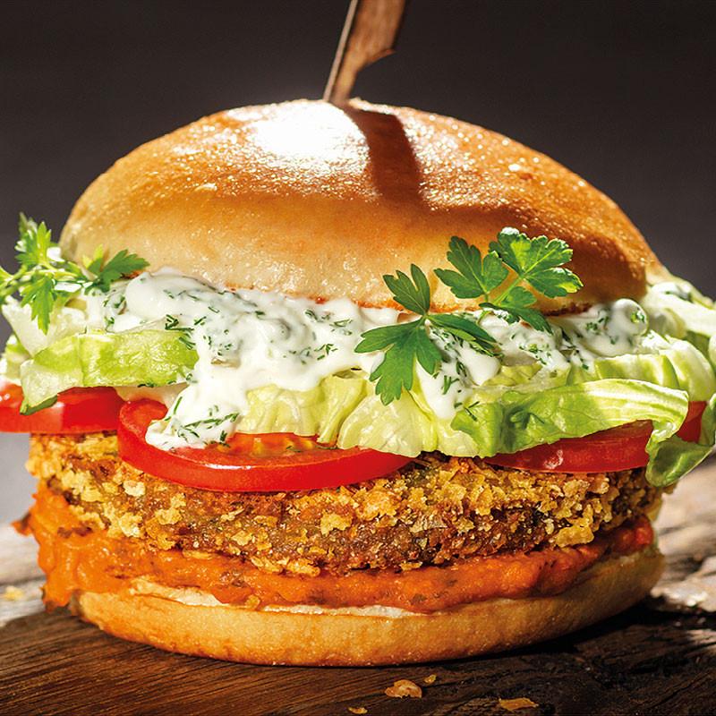 Green Rosin Burger vegan