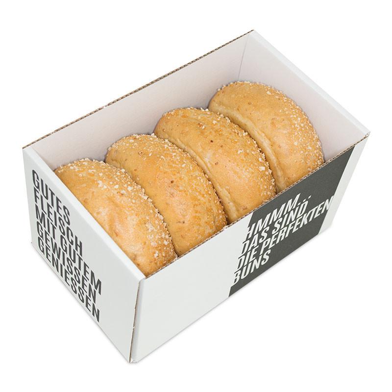 Burgerbrötchen handgeformt, in Verpackung