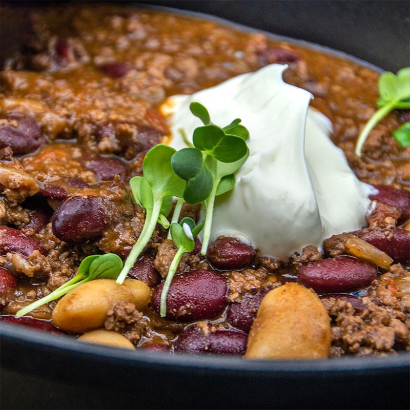 Chili con Carne angerichtet Detail