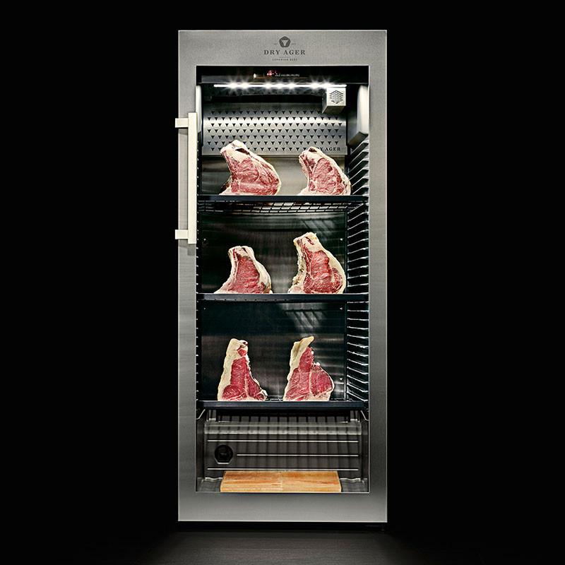 Fleisch-Reifeschrank Dry Ager DX 1000® mit Fleisch