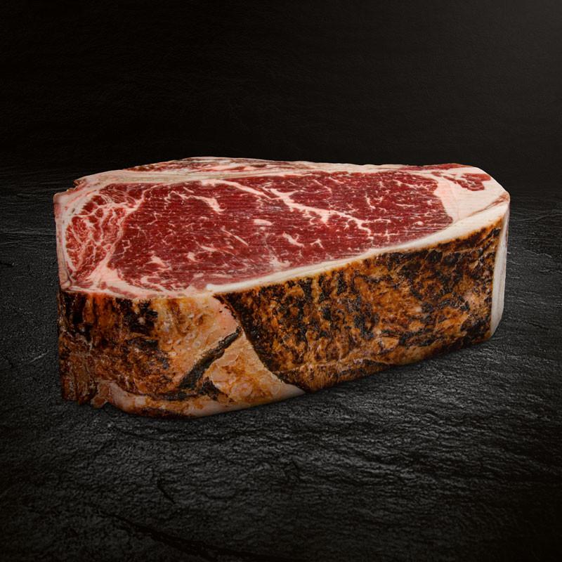 Flamed US Beef Rumpsteak bone in Dry-Aged