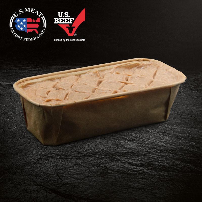 Fleischkäse mit Käse & Röstzwiebeln, Rohzustand