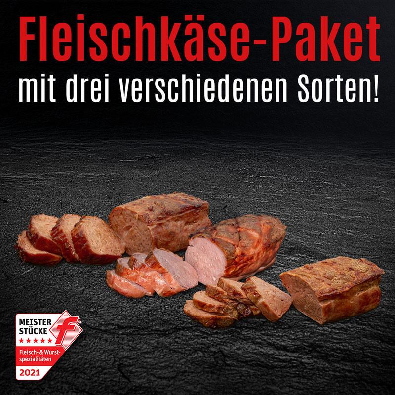 Fleischkäse, Fleischkäse mit Käse & Fleischkäse mit Käse + Röstzwiebeln