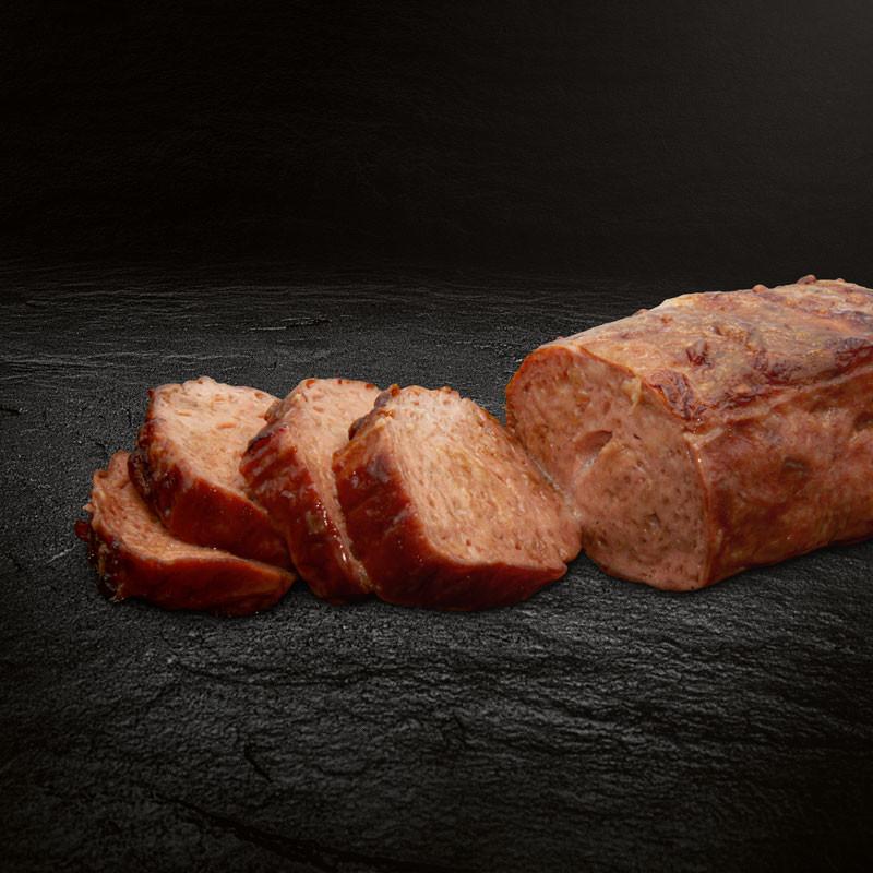 Fleischkäse zubereitet