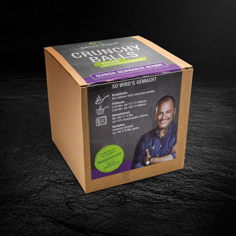 Quinoa Blackbean Crunchy Balls Verpackung