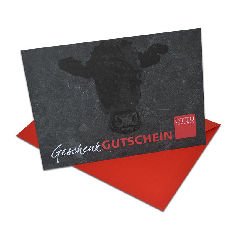 Geschenk-Gutschein mit rotem Umschlag