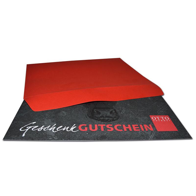 Geschenkgutschein in rotem Couvert