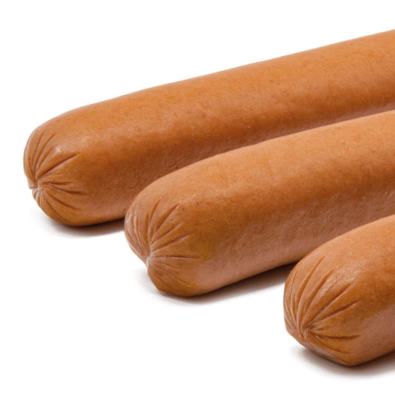 Großaufnahme der Hot Dog Wurst Enden