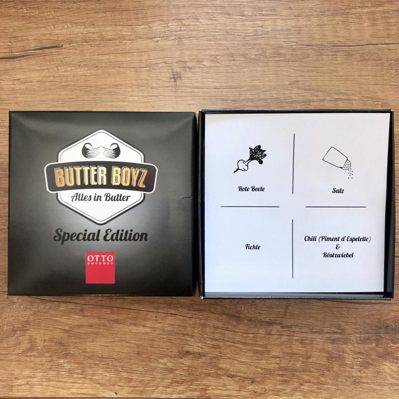 Verpackung für Salz-, Rote Bete, Fichte & Röstzwiebel Chili Butter