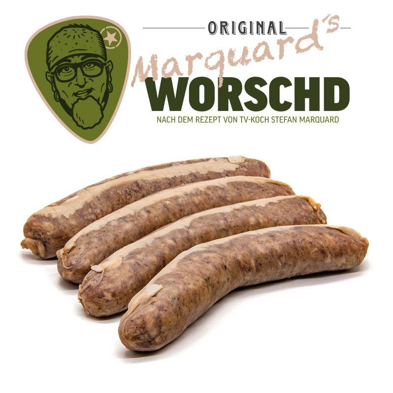 Stefan Marquard`s Original Ur-Fränkische Bratwurst im Bändeldarm 4 Stück roh