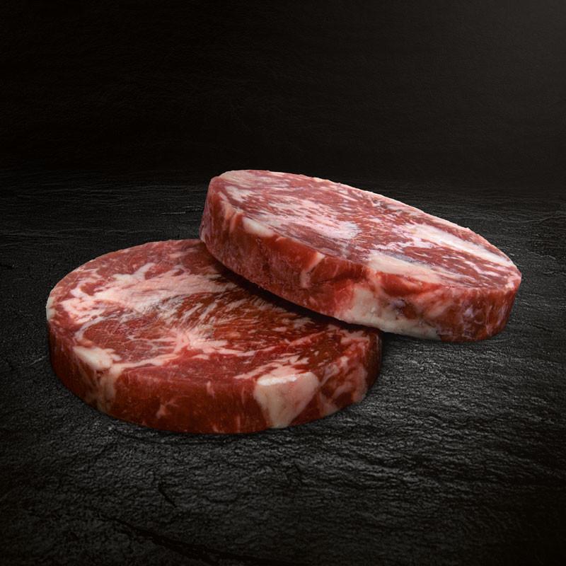Morgan Ranch Wagyu Steak Stripe Patty, 2er Set