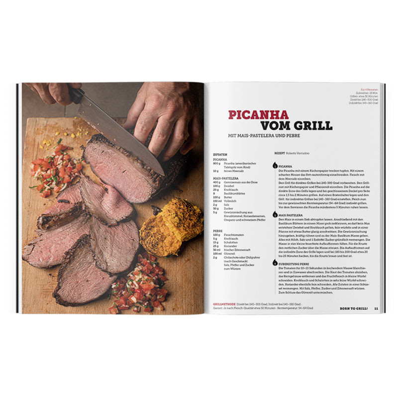 Buch Born to Grill Rezept Picanha vom Grill