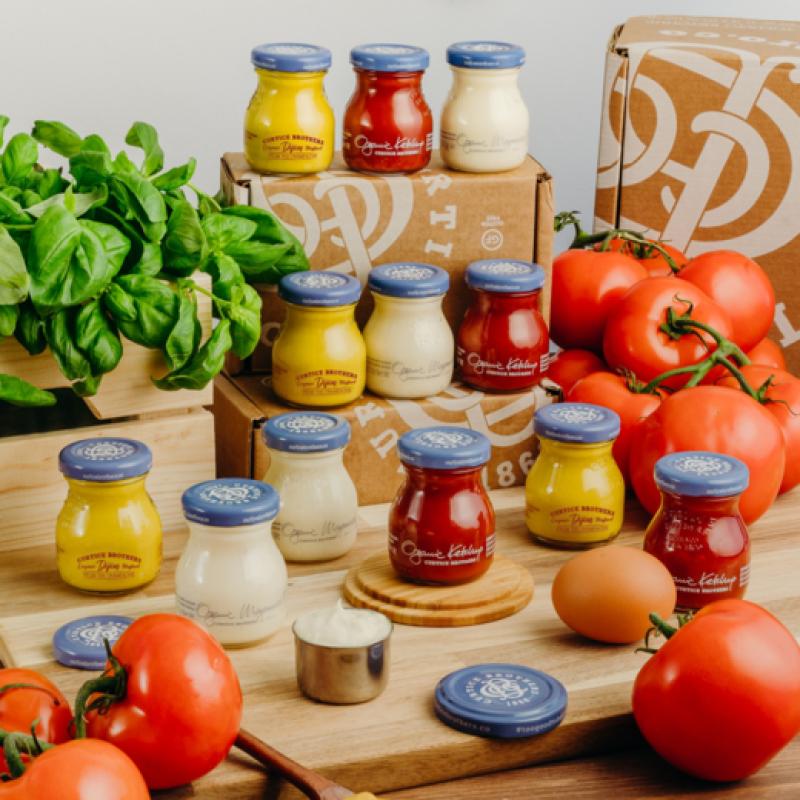 Dijon Senf, Ketchup und Mayonnaise - der Bio Piccolo Mix bietet Vielfalt