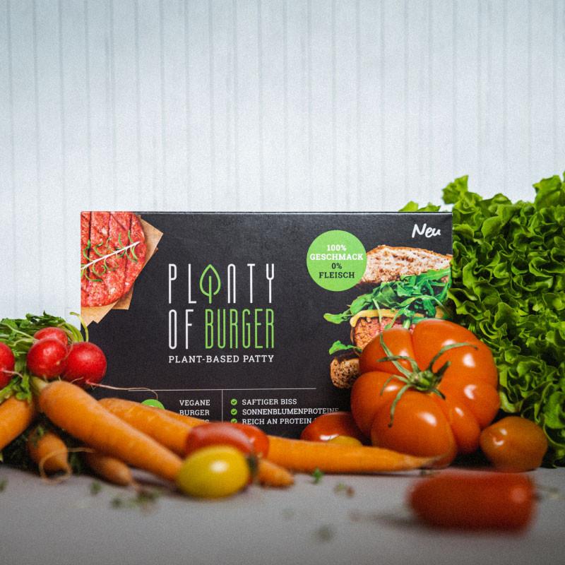 Planty of Burger - Veganer Burger Verpackung