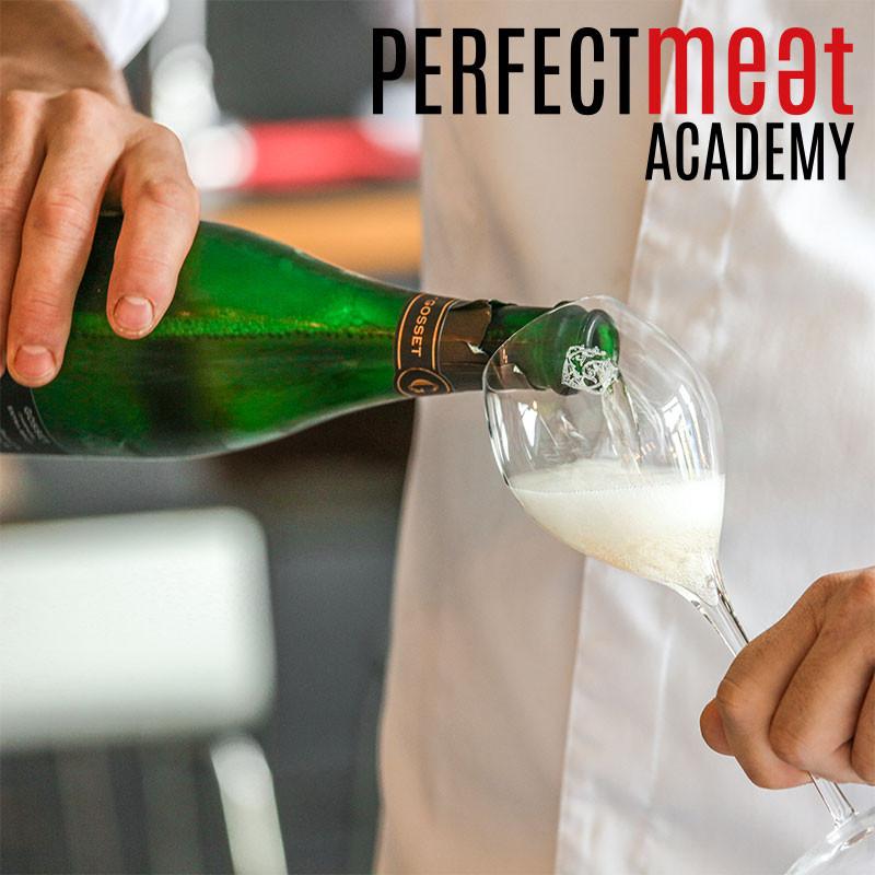 Gosset Champagner zur Begrüßung bei der Perfect Meat Academy in Heinsberg-Oberbruch