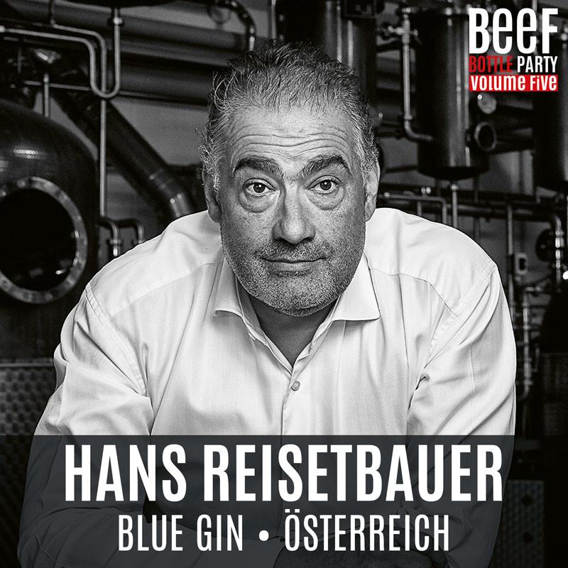 Hans Reisetbauer mit Blue Gin