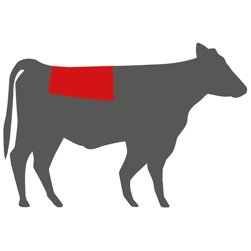Wo liegt das Mountain Steak beim Rind?