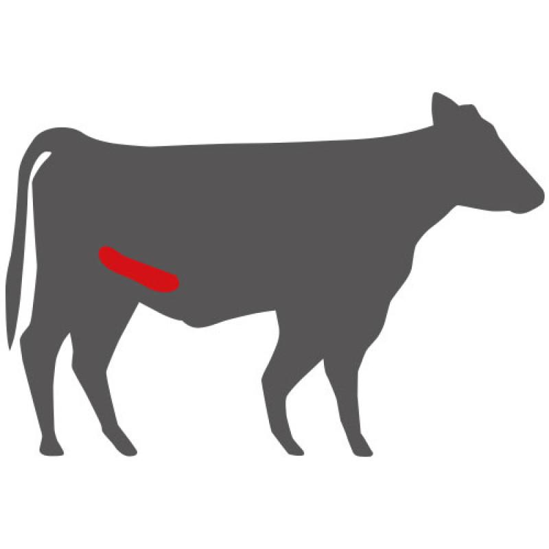 Wo liegt das Top Butt Flap Steak?