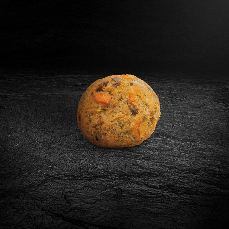 Süßkartoffel Tahini Crunchy Balls einzeln