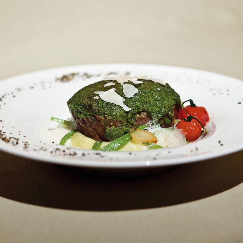 Original Sansibar-Rezept: Schulter vom US-Beef an Parmesan