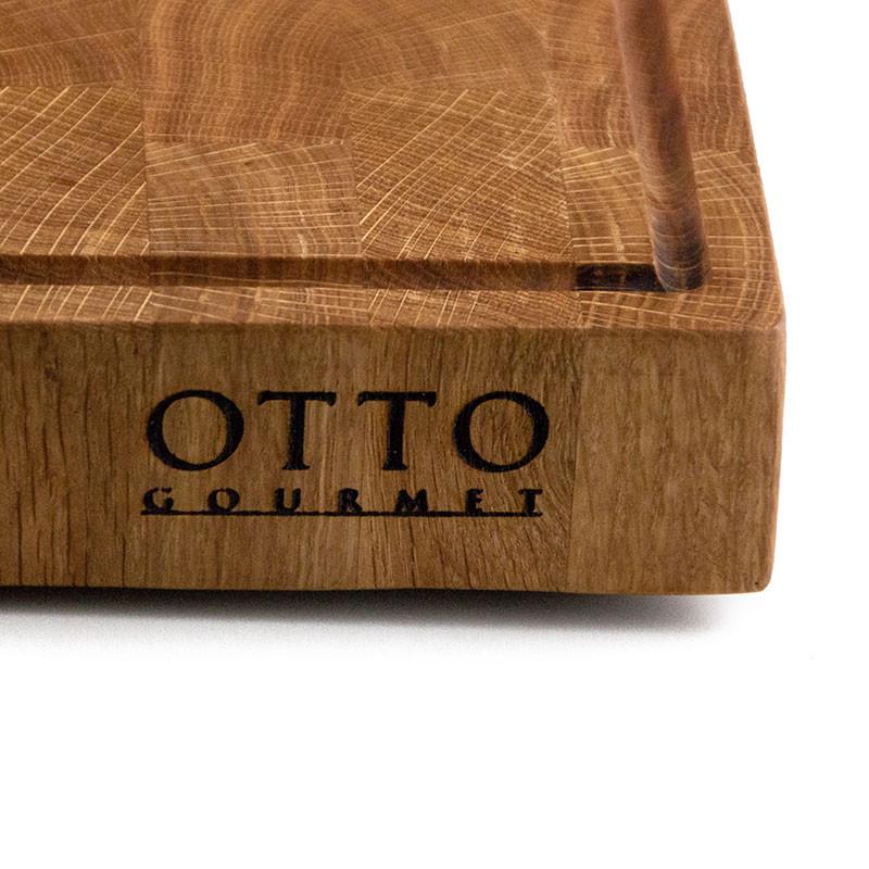 Otto Gourmet Schriftzug mit Saftrinne