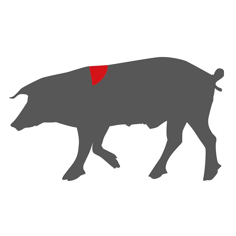 Hier liegt das Ribeye / Entrecôte beim Schwein
