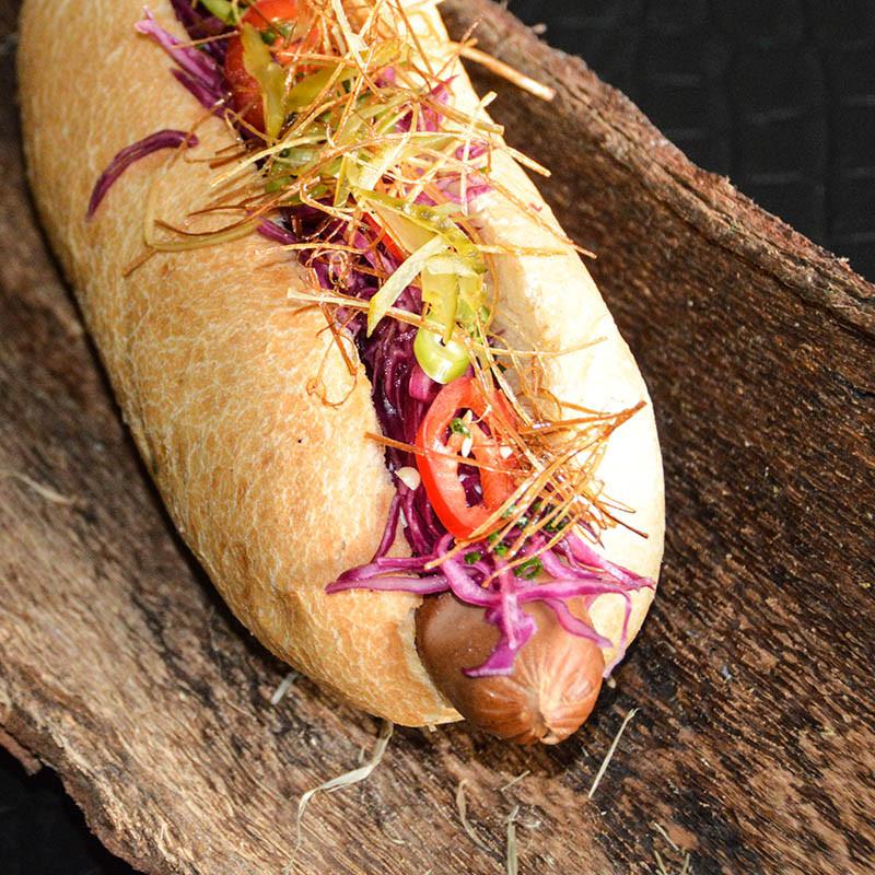 Hot Dog Serviervorschlag