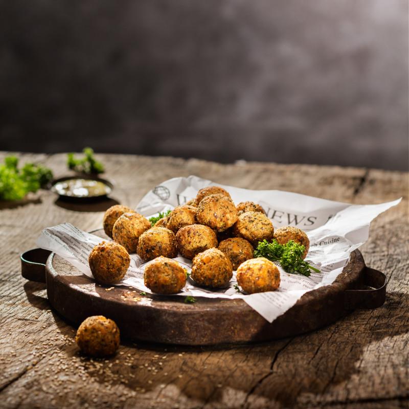 Süßkartoffel Tahini Crunchy Balls