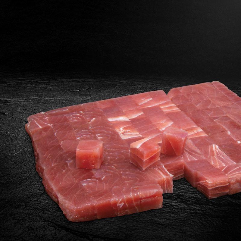 Red Tuna Cubes Würfel