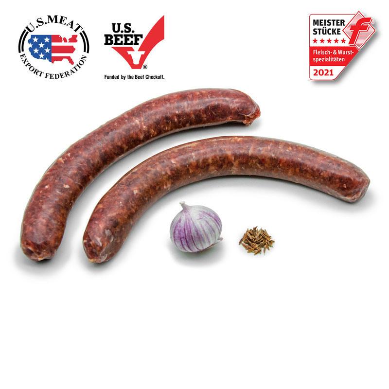 US Beef Bratwurst, roh