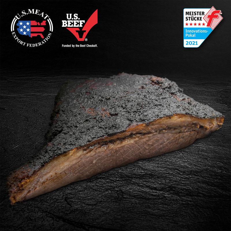 """US Beef Brisket """"Smoked"""" ist ein BBQ-Klassiker und bereits vorbereitet"""