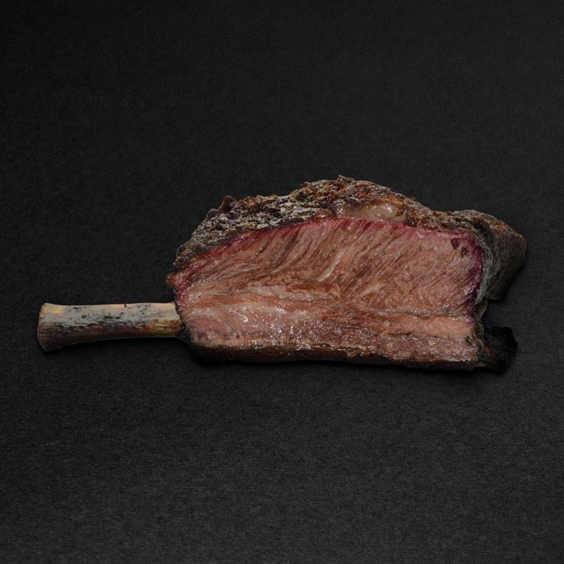 Irish Hereford Prime Beef Ribs Smoked, Back Ribs, geräucherte, vorgegarte Rinderrippe