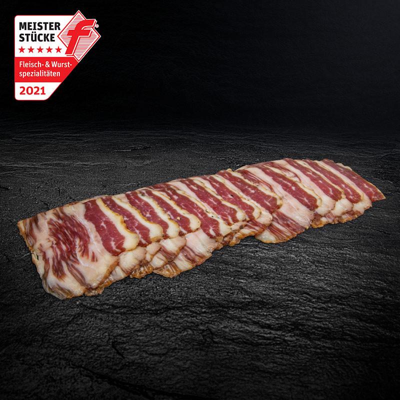 Morgan Ranch Wagyu Maple Syrup Bacon, portioniert