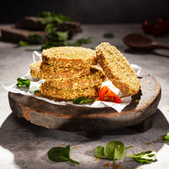 Bulgur Spinat Walnuss Burger Patty | Vegan