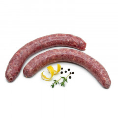 Bison Bratwurst, roh