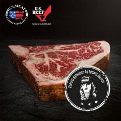 Flamed US Beef T-Bone Dry-Aged, Lucki Maurer Selection